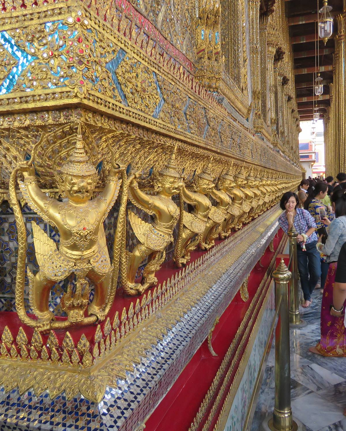 Exterior wall of the Emerald Buddha temple