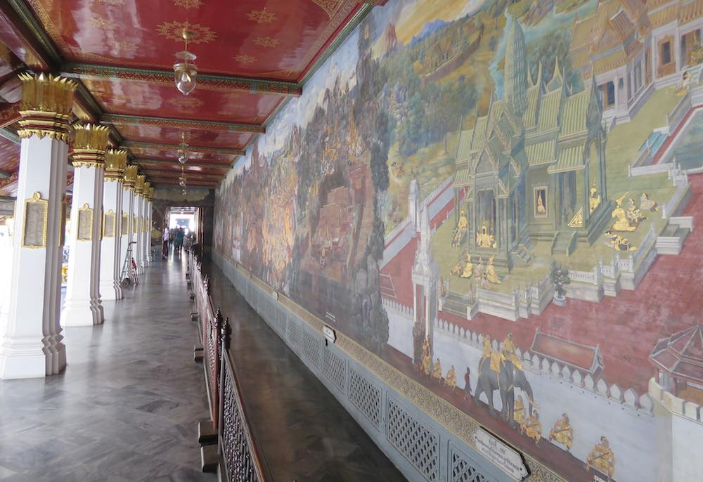 Paintings on Grand Palace walls