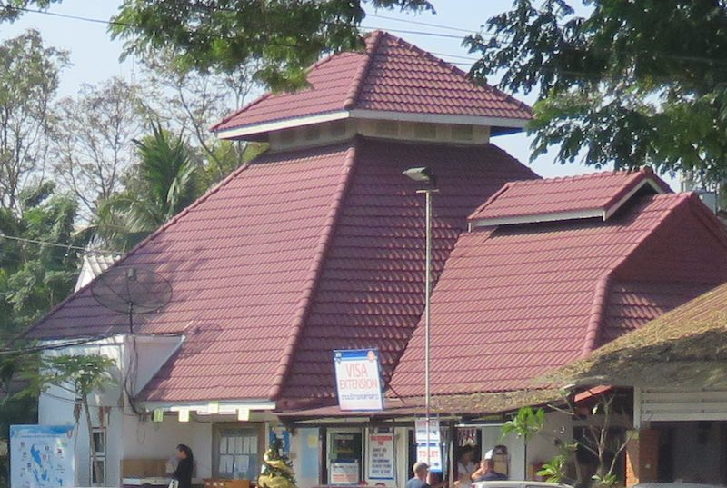 close up of Chiang Mai Immigration building