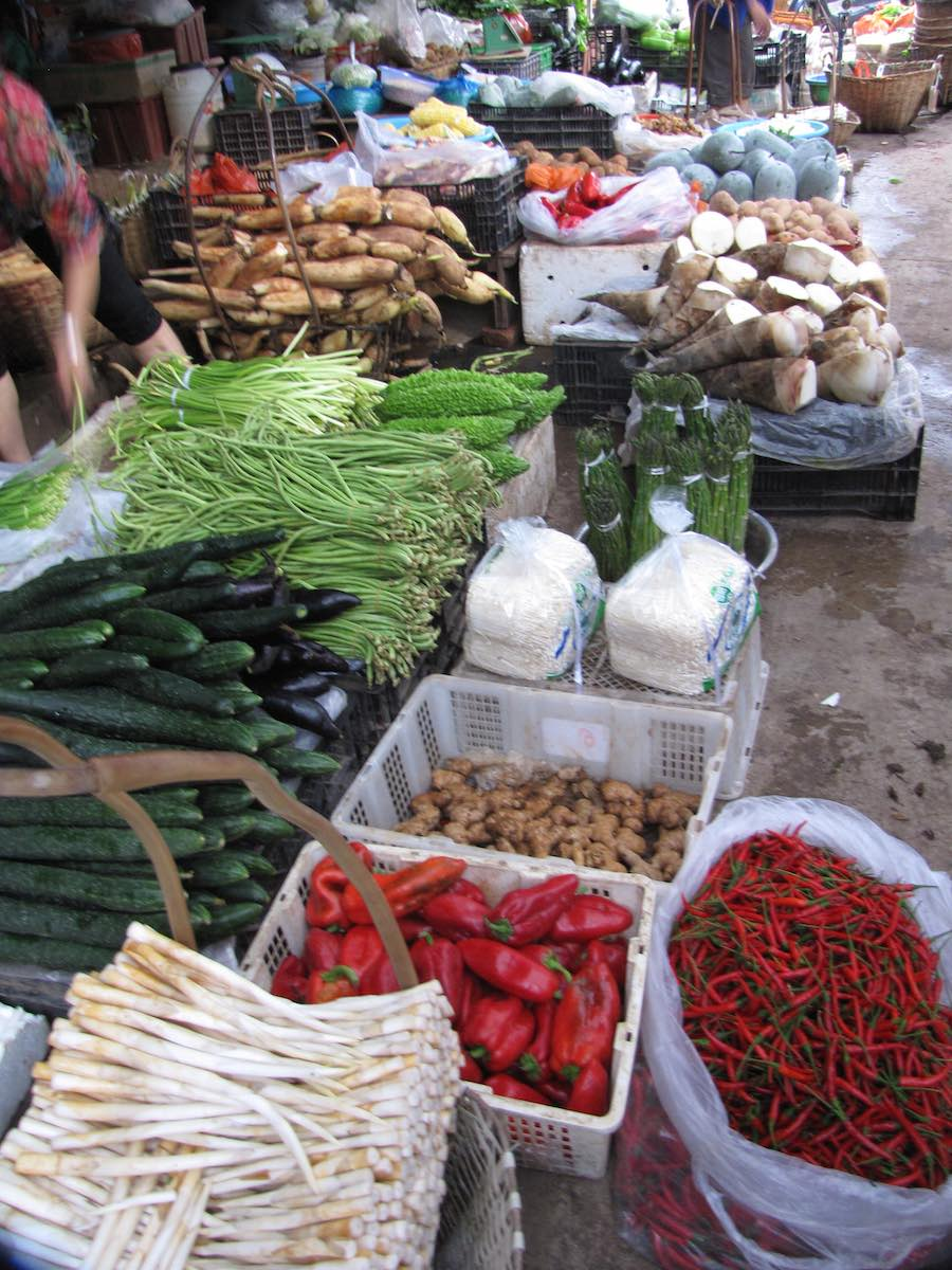 vegetables for sale at the market