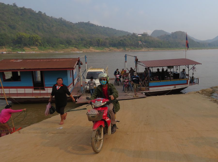 photo of ferry and the river