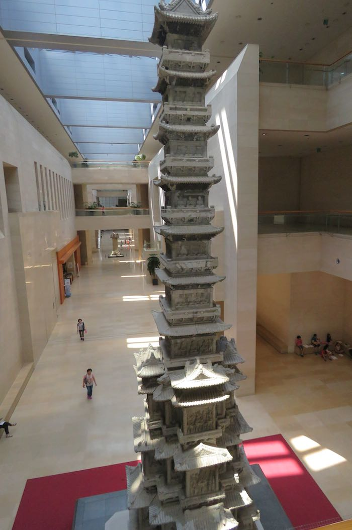 Gyeongcheonsa ten story pagoda inside the museum