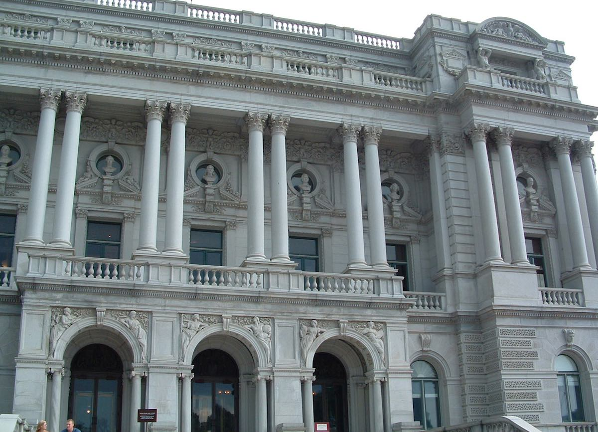 Exterior view of the Library of Congress