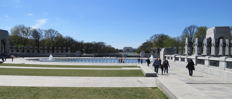 World War II Memorial with the Lincoln Memorial in the background