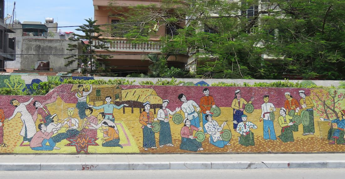 images of musicians on the Hanoi Mosaic Mural