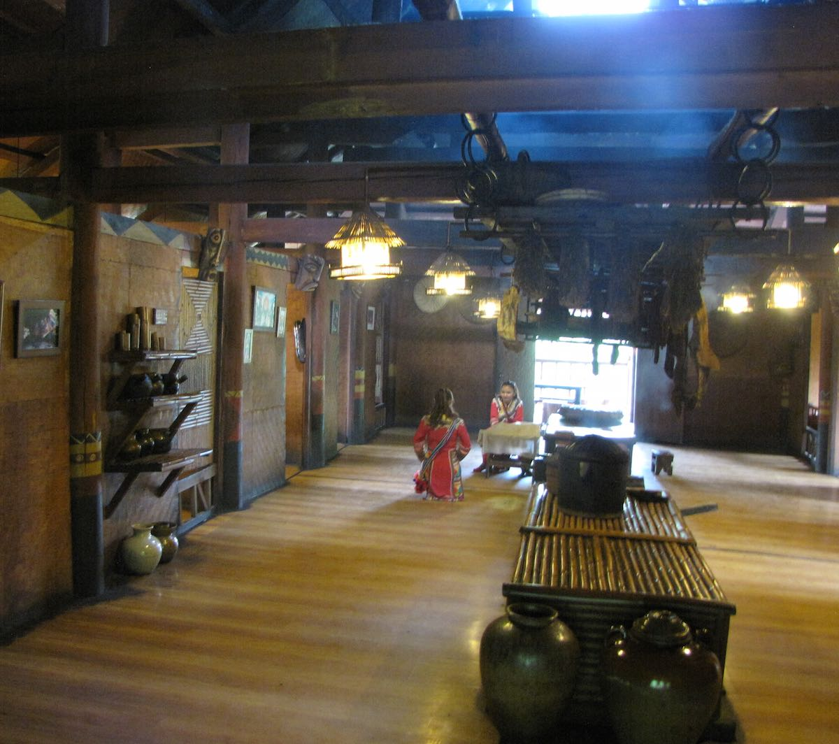 Inside a Large Wooden House