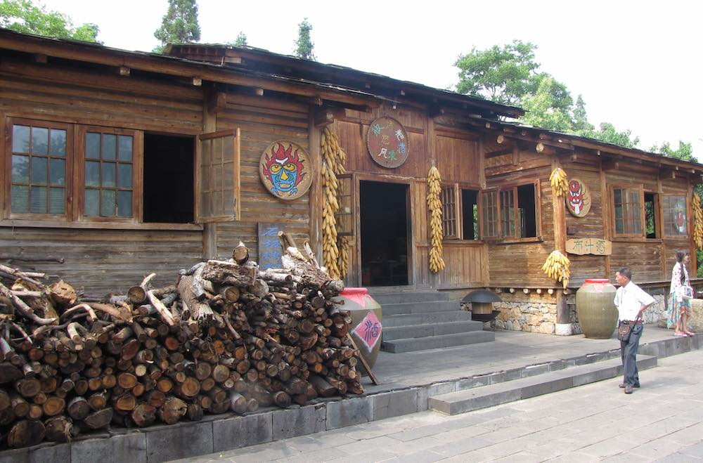 Outside of Yunan traditional Wooden House