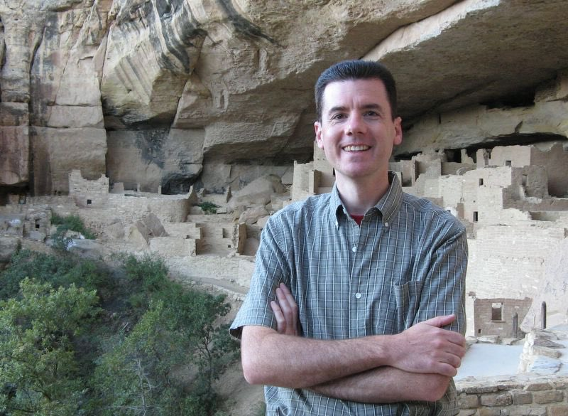 John Hunter at the Cliff Palace, Mesa Verde National Park
