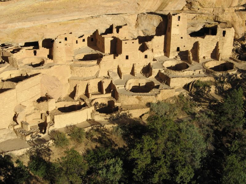 Cliff Palace at sunset, Mesa Verde National Park