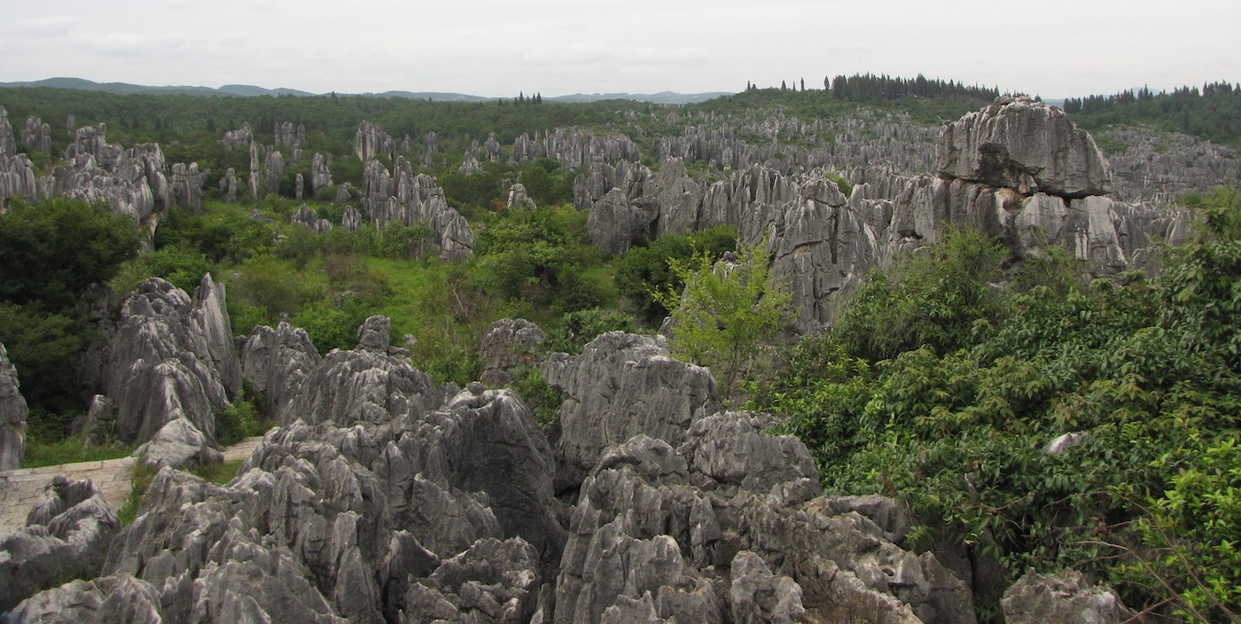 Vista over the Stone Forest in Yunnan, China