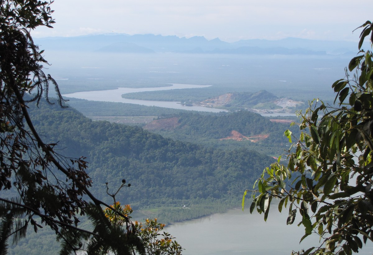 vista from Mount Santubong jungle trail